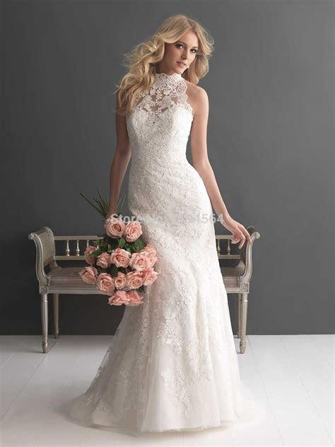 China Wedding Dresses Halter Lace Top Bridal Gown 2015