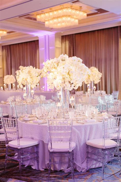 The couple decorated their reception with frosted and