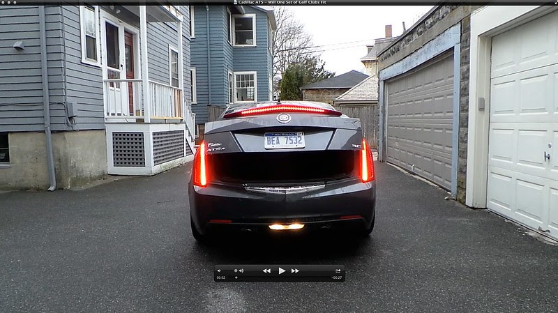Cadillac ATS - Will One Set of Golf Clubs Fit In The Trunk