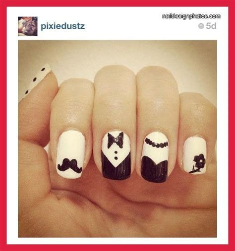 red and black wedding nail designs   black and white nail