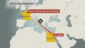 L'avió ha sortit de París i ha desaparegut poc abans d'arribar al Caire