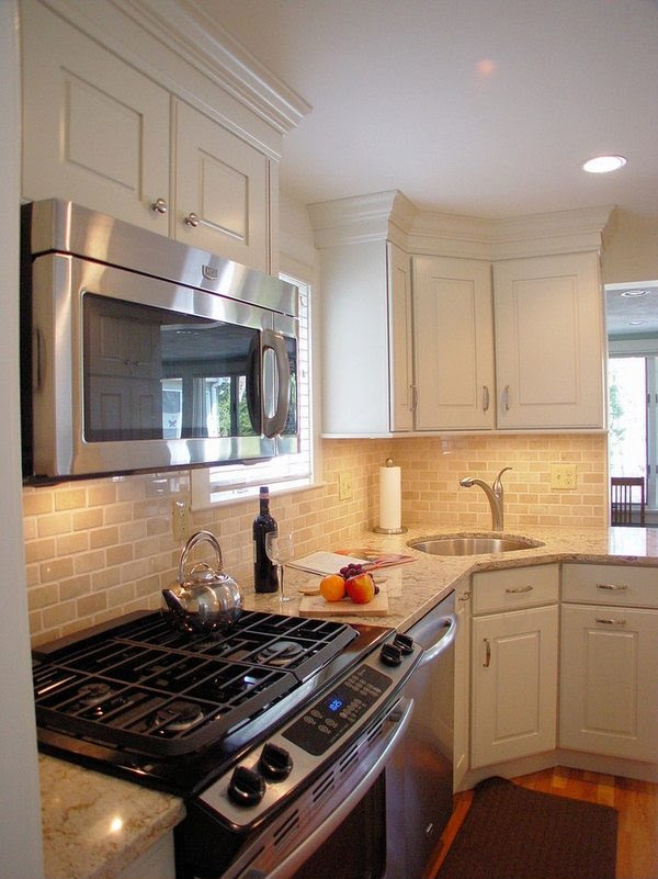 Corner kitchen sink - efficient and space saving ideas for ...