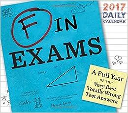Buy F in Exams 2017 Daily Calendar (Calendars 2017) Book Online at ...
