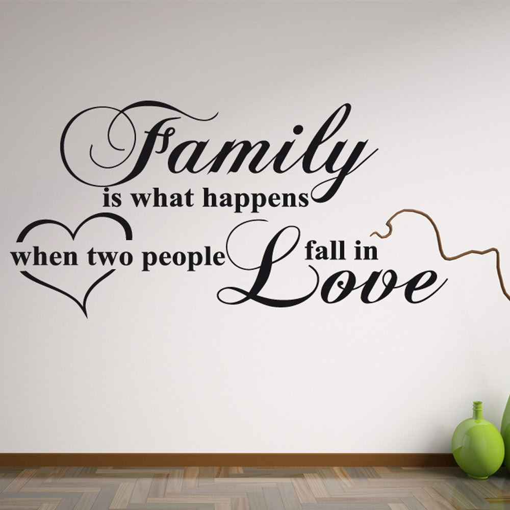 Family Love Wall Sticker Quote  Wall Chimp UK.