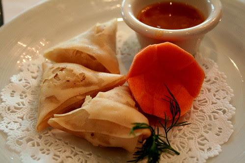 Vegetable Samosas Mango Chutney