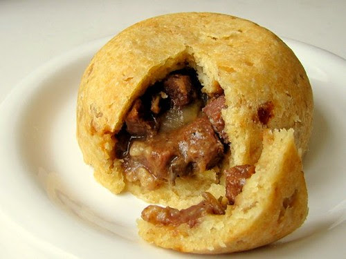 Steak, Oysters, and Mushrooms Suet Pudding