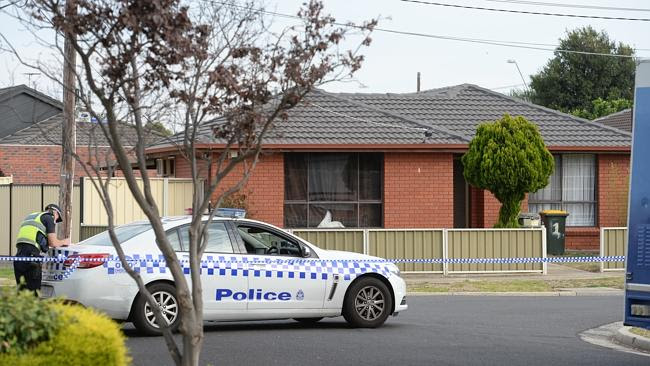 Crime scene ... Alistair and Mai were murdered at the Albanvale home. Picture: Kylie Else