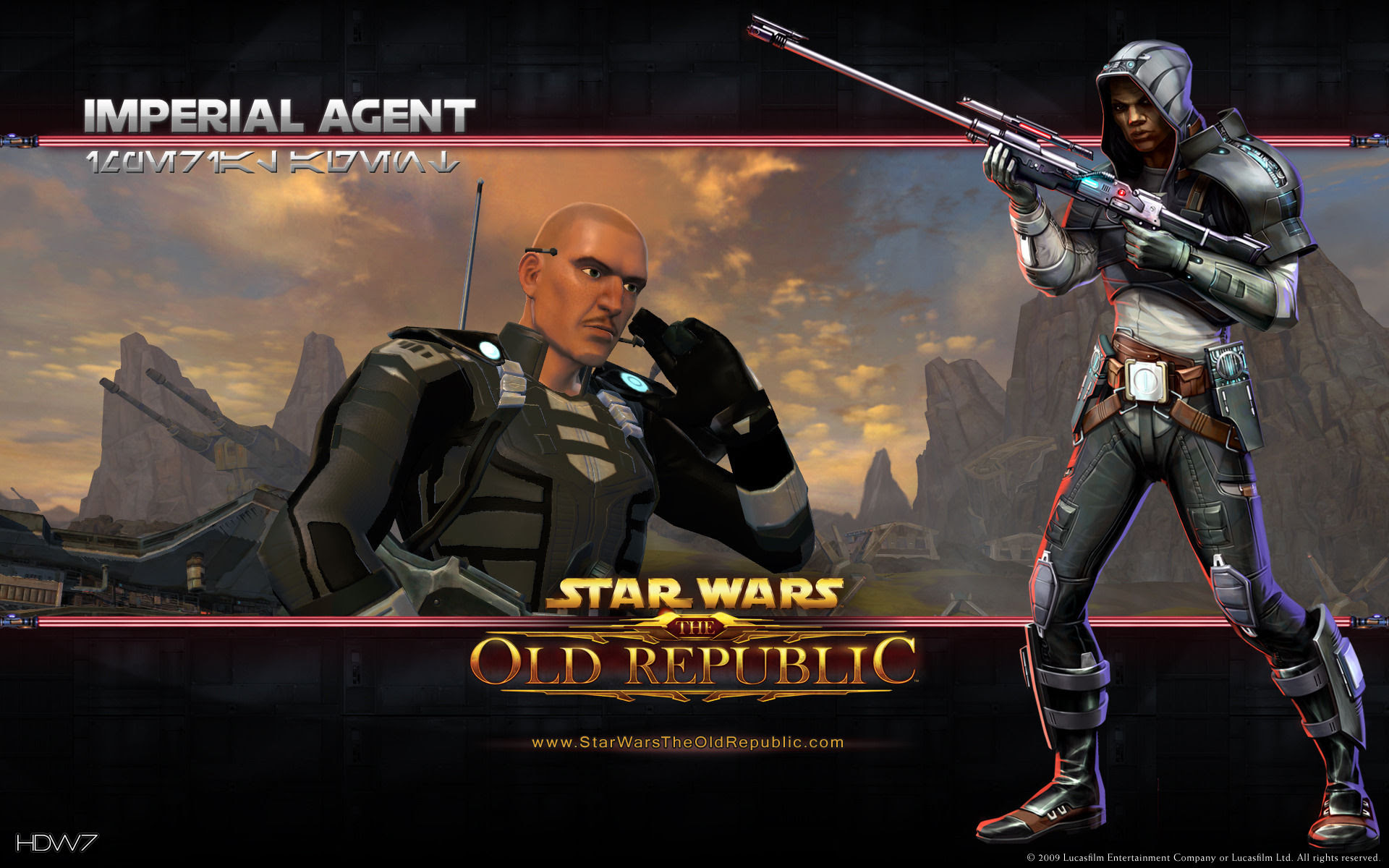 Star Wars The Old Republic Imperial Agent Widescreen Wallpaper