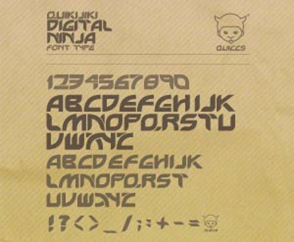 Digital free font +10 Tipografías elegantes y gratuitas   Parte III