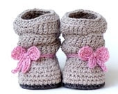 Crochet Pattern # 217 Baby Slouch Boot - Mia Boot - Instant Download - PDF - Slouchy