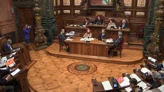 Imatge d'una sessió plenària de l'Ajuntament de Barcelona