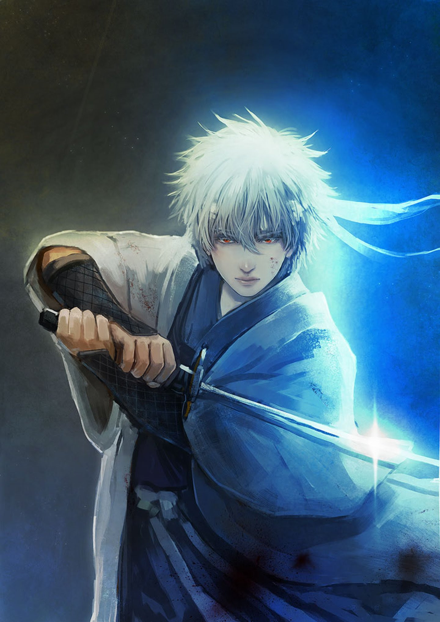 Anime series gintama character sword male guy light wallpaper  1440x2035  634347  WallpaperUP