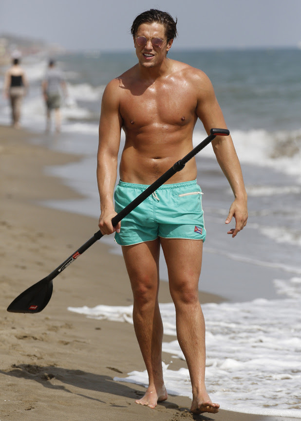 Lewis Bloor paddle boarding in Marbella 5 June