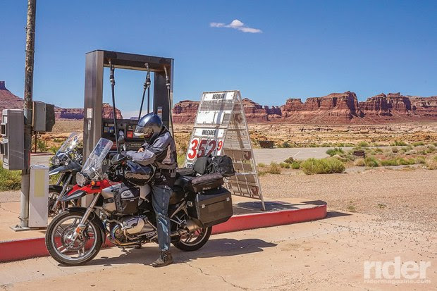 Last call for gas--somewhere in the desert near Mexican Hat.