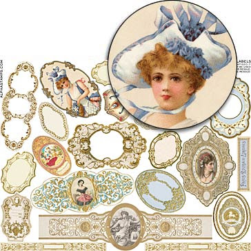 Mini French Labels Collage Sheet