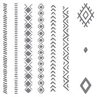 Bohemian Borders Photopolymer Stamp Set by Stampin' Up!