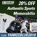 20% Off at SteinerSports.com with code YANKEEBLUE