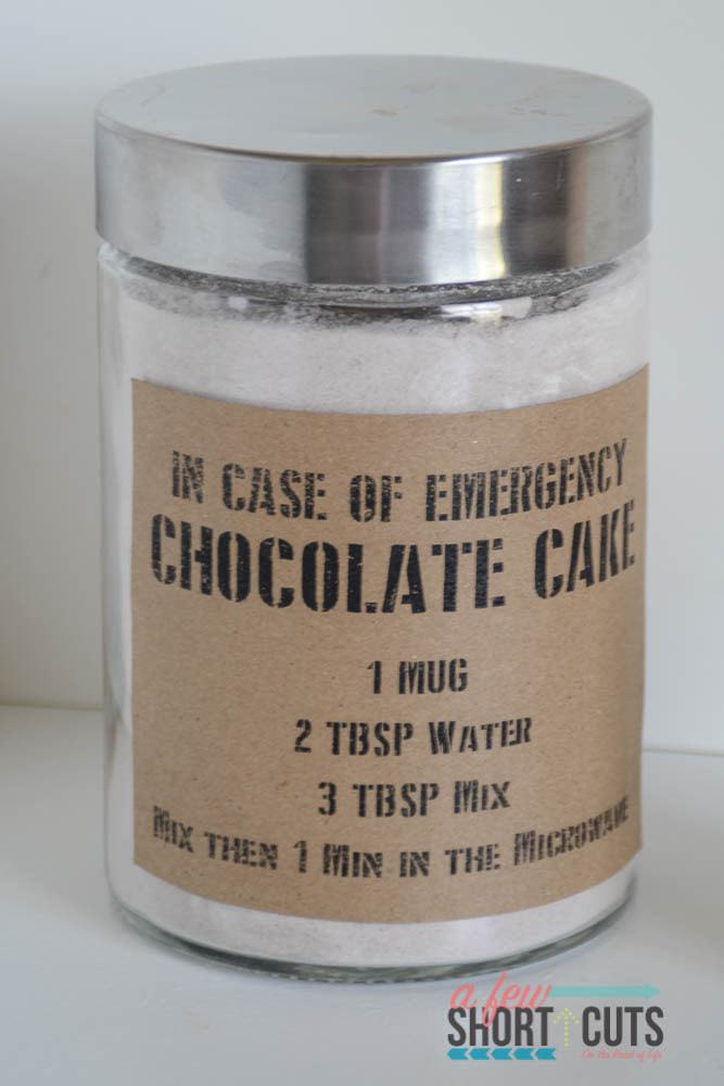 Chocolate Mug Cake Mix - A Few Shortcuts