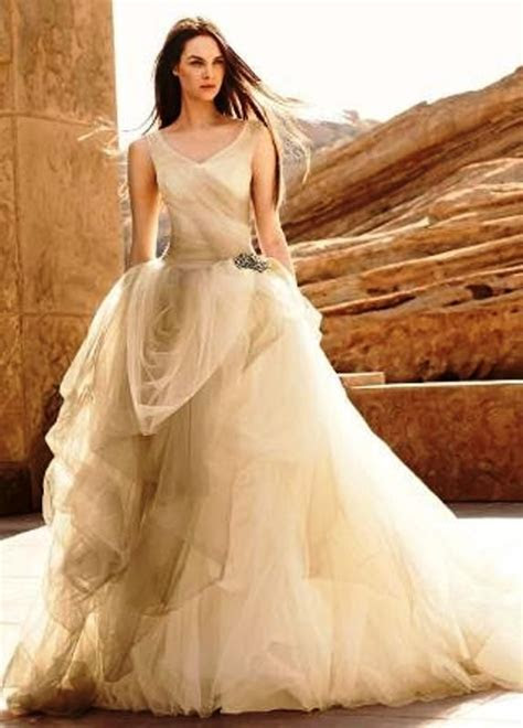 Brand New White by Vera Wang Stone Ombre Tulle Wedding