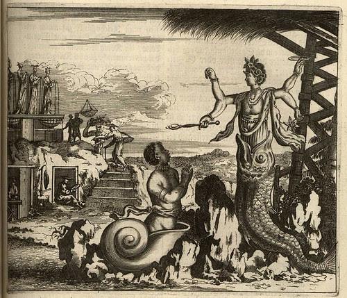 Hindu deity Vishnu in fish incarnation