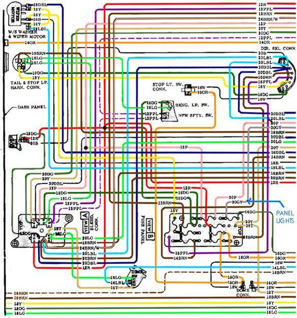Color Wiring Diagram Finished The 1947 Present Chevrolet Gmc Wiring Diagrams Register Register Miglioribanche It