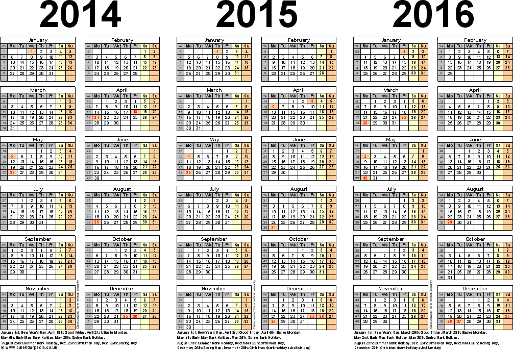 three_year_calendars_for_2014_2015__2016_uk_for_word_2