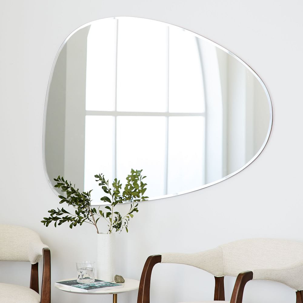 Frameless Asymmetrical Wall Mirror | west elm UK