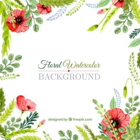 Floral watercolor background Vector   Premium Download