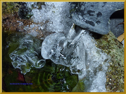 Water Flowing Through Ice