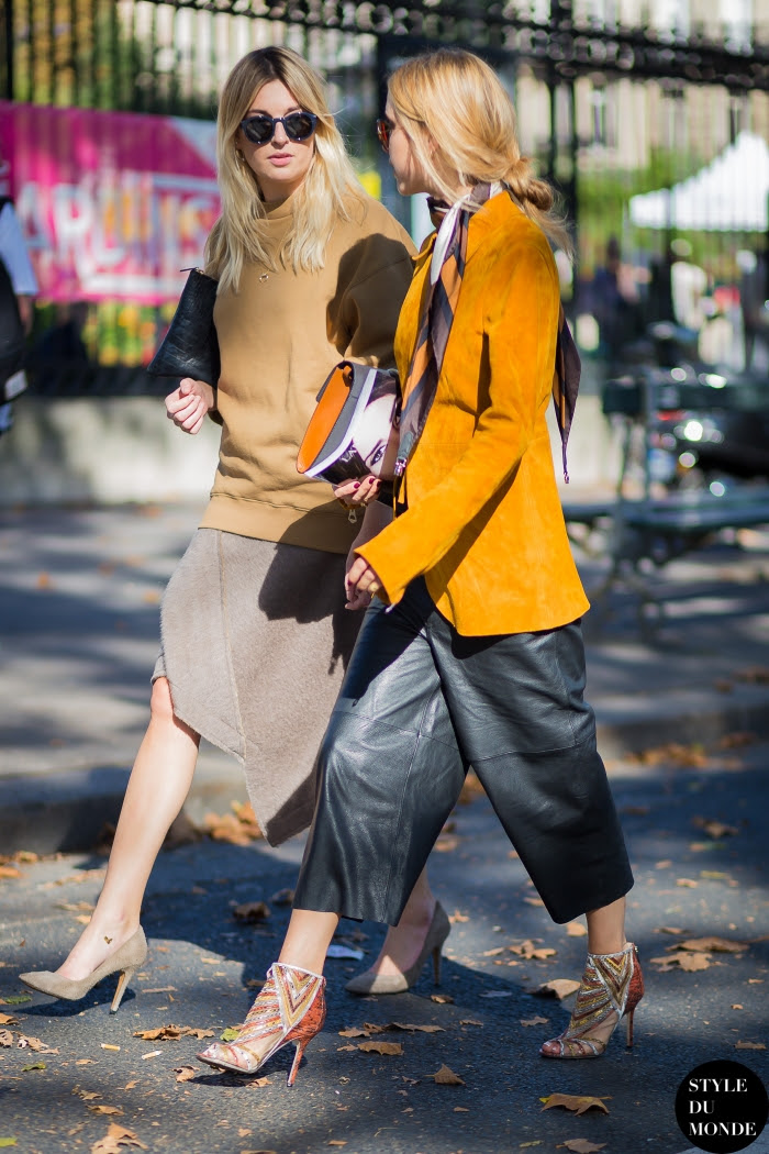 Camille Charrière and Pernille Teisbaek Street Style Street Fashion Streetsnaps by STYLEDUMONDE Street Style Fashion Blog