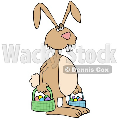 easter bunnies and eggs. Tired Easter Bunny Carrying