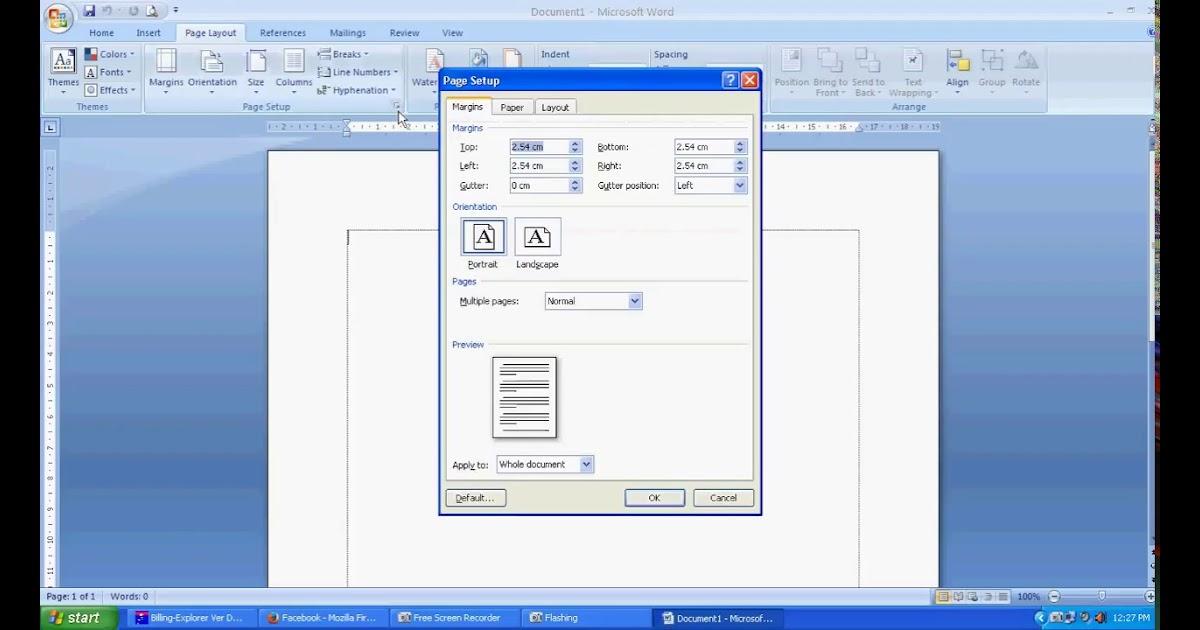 Cara Mengatur Ukuran Kertas Di Microsoft Word 2010 - Ini ...