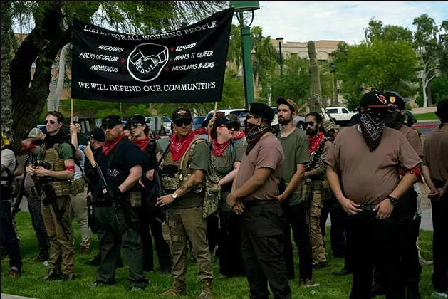 """Image: Beware of """"Redneck Revolt,"""" a radical left-wing terrorist organization that's recruiting starry eyed youth to wage war against the government"""