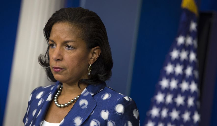 National Security Adviser Susan Rice during the daily press briefing in Washington on July 22, 2015. (Associated Press) **FILE**