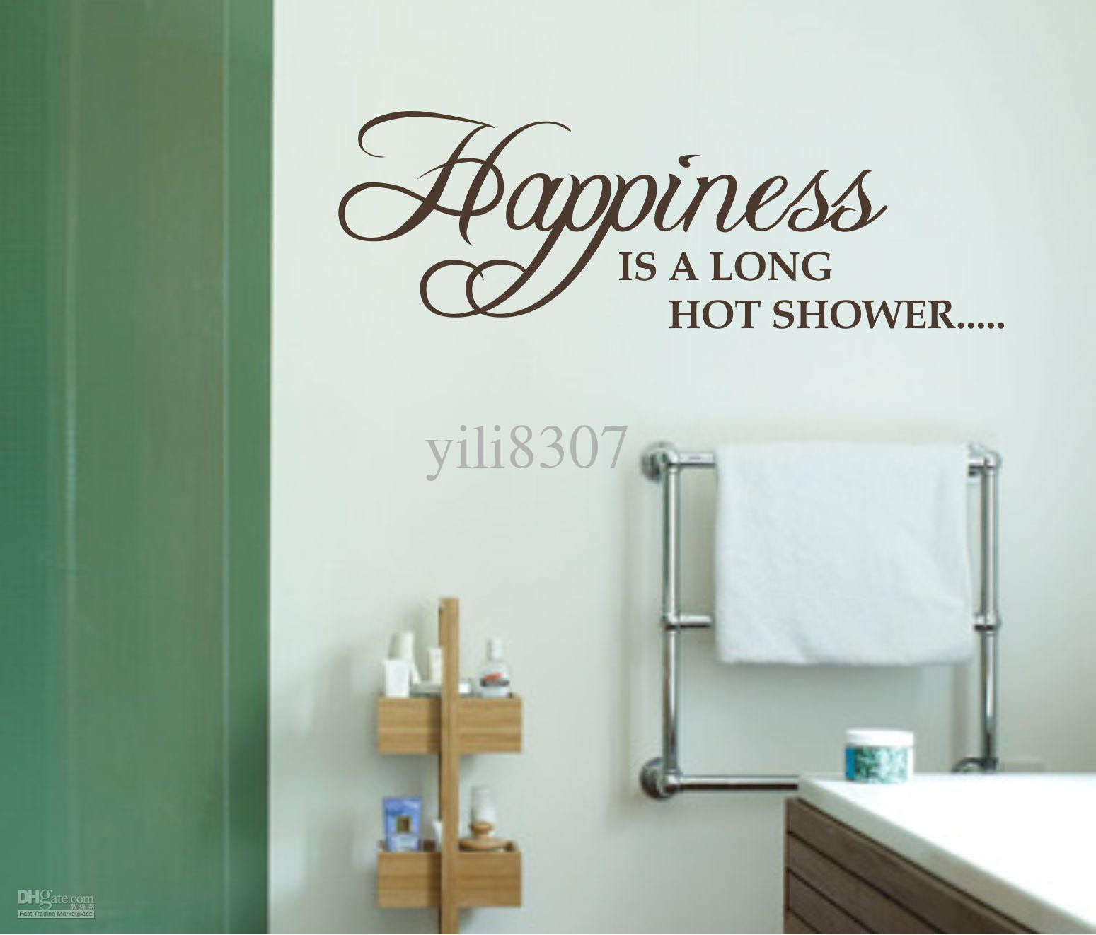 Shower Bathroom Wall Decals Quotes. QuotesGram