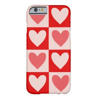 Bold Hearts on iPhone 6/6S Case Barely There iPhone 6 Case