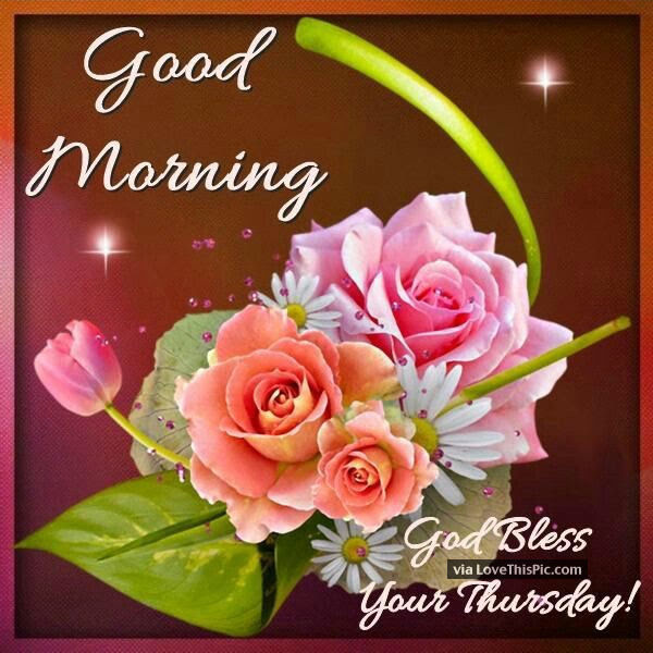 Good Morning God Bless Your Thursday Image Quote Pictures Photos