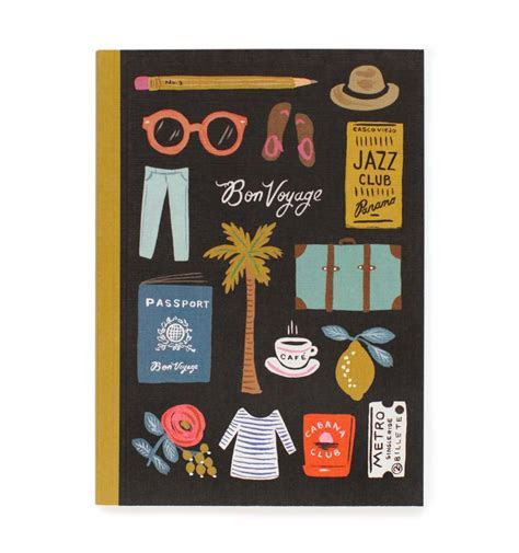 Travel Essentials Journal by RIFLE PAPER Co.   Made in USA