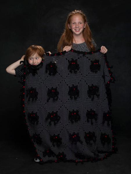 Spooky Spider Afghan Crochet Pattern