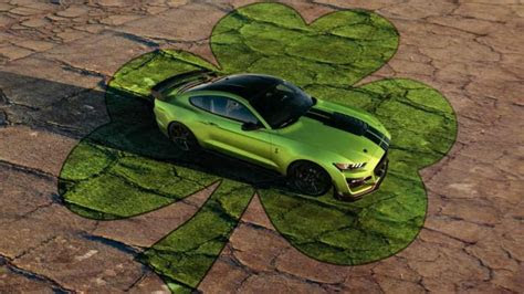 ford mustang celebrates st patricks day  grabber