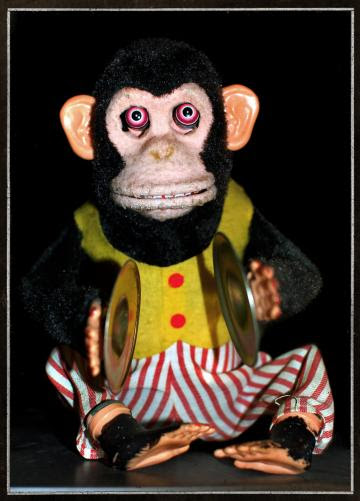 Toy Monkey Postcard