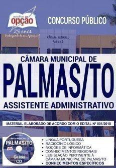 Apostila Concurso Câmara de Palmas 2018   ASSISTENTE ADMINISTRATIVO