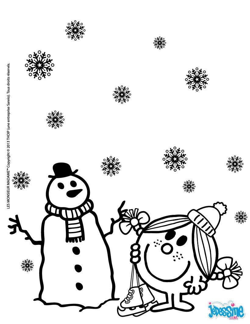 Le bonhomme de neige de Madame Bonheur