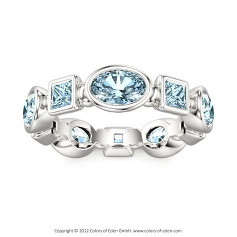 Aquamarine White Gold Ring Gloriola, Colors of Eden #