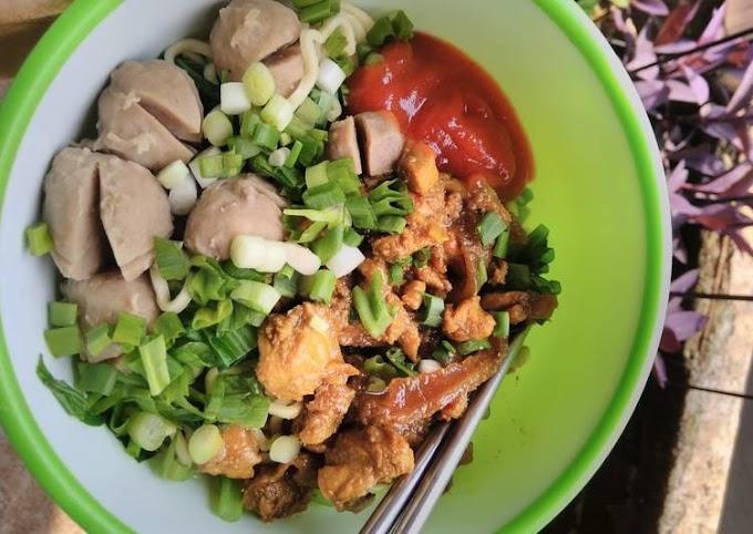 Resep Mudah Mi ayam simpel tapi enak Anti Gagal