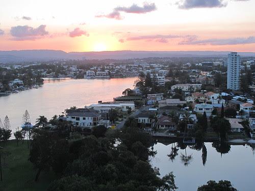 Sunset at Gold Coast