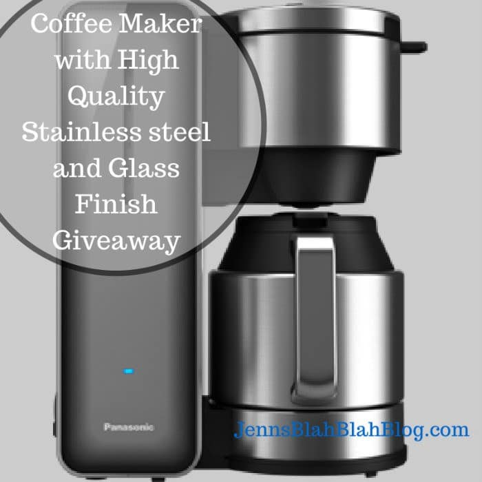 Coffee Maker with High Quality Stainless steel and Glass Finish Giveaway