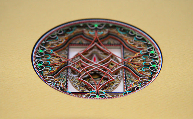 Stained Glass Windows Made from Laser Cut Paper by Eric Standley  sculpture paper