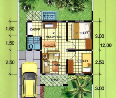 80 Koleksi Gambar Denah Rumah Btn Tipe 36 HD