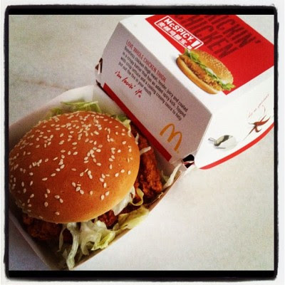 Not a fan of McDonald but I'm a fan of deals! Haha! :P #Mcspicy290 (Taken with instagram)